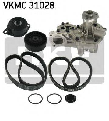 SKF VKMC31028 Водяной насос + комплект ручейковых ремней
