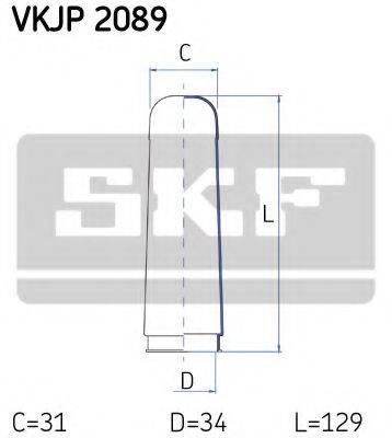 SKF VKJP2089 Пыльник рулевой рейки