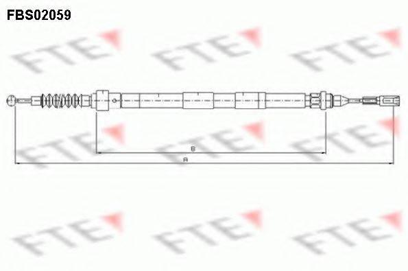 FTE FBS02059 Трос, стояночная тормозная система
