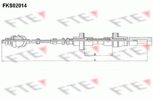 FTE FKS02014 Трос сцепления