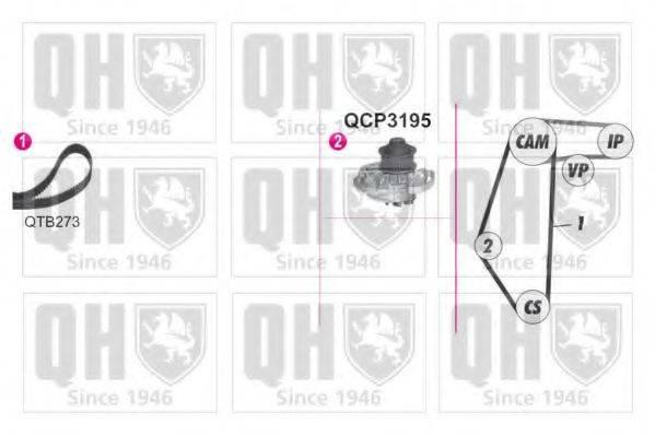 QUINTON HAZELL QBPK9059 Водяной насос + комплект зубчатого ремня
