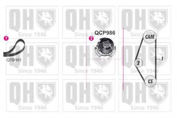 QUINTON HAZELL QBPK9089 Водяной насос + комплект зубчатого ремня