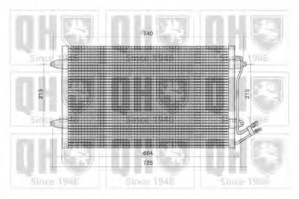 QUINTON HAZELL QCN357 Конденсатор кондиционера