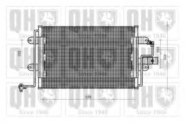 QUINTON HAZELL QCN70 Конденсатор кондиционера