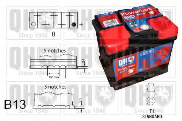 QUINTON HAZELL QBT0635 Аккумулятор автомобильный (АКБ)