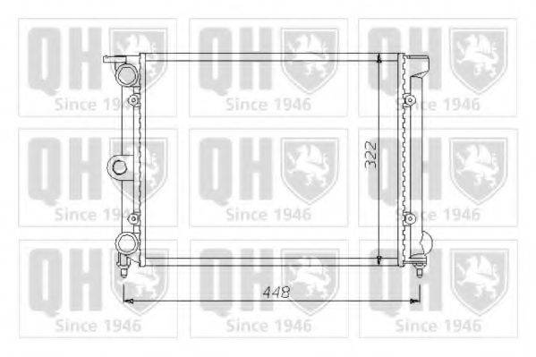 QUINTON HAZELL QER1406 Радиатор охлаждения двигателя