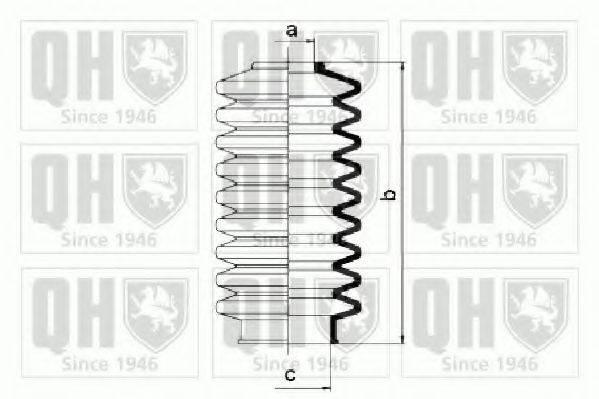 QUINTON HAZELL QG1081 Пыльник рулевой рейки