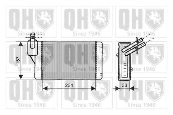 QUINTON HAZELL QHR2019 Радиатор печки