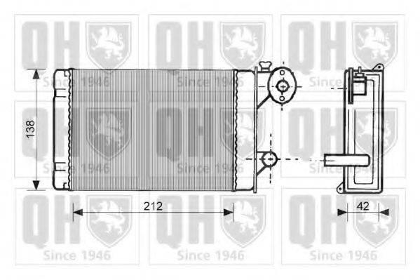 QUINTON HAZELL QHR2040 Радиатор печки