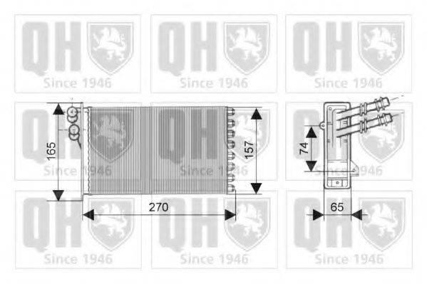 QUINTON HAZELL QHR2149 Радиатор печки