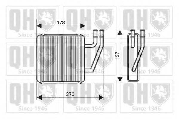 QUINTON HAZELL QHR2190 Радиатор печки