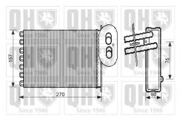 QUINTON HAZELL QHR2279 Радиатор печки