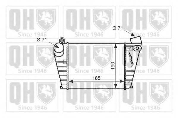 QUINTON HAZELL QIC113 Интеркулер