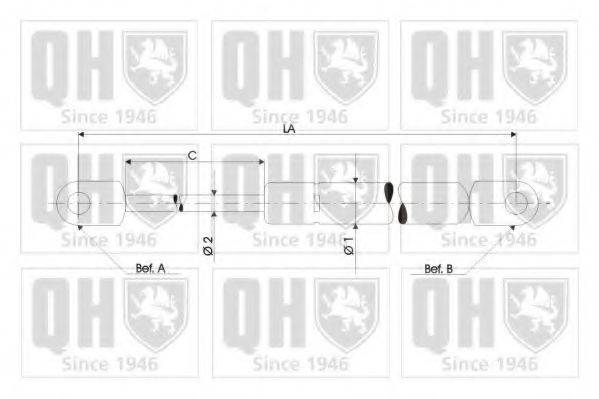 QUINTON HAZELL QTS128445 Амортизатор багажника