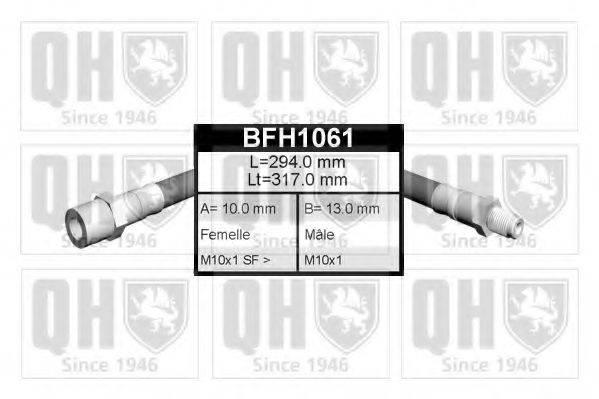 QUINTON HAZELL BFH1061 Тормозной шланг