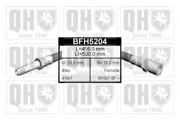 QUINTON HAZELL BFH5204 Тормозной шланг