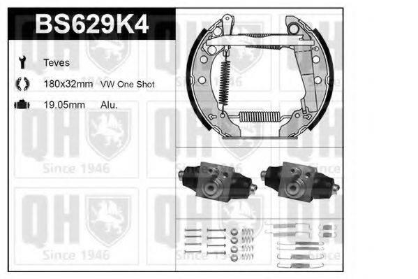 QUINTON HAZELL BS629K4 Комплект тормозов, барабанный тормозной механизм