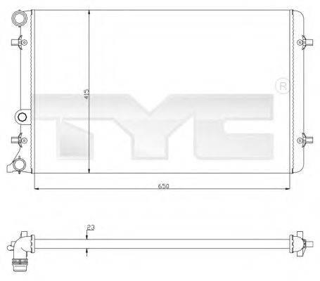 TYC 7020033 Радиатор охлаждения двигателя
