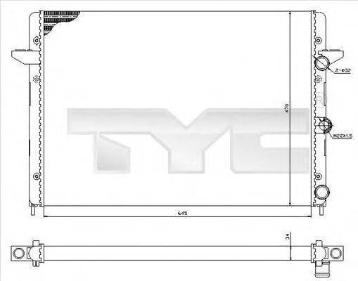TYC 7370005 Радиатор охлаждения двигателя