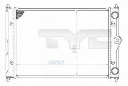 TYC 7370044 Радиатор охлаждения двигателя