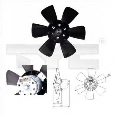 TYC 8370007 Вентилятор системы охлаждения двигателя