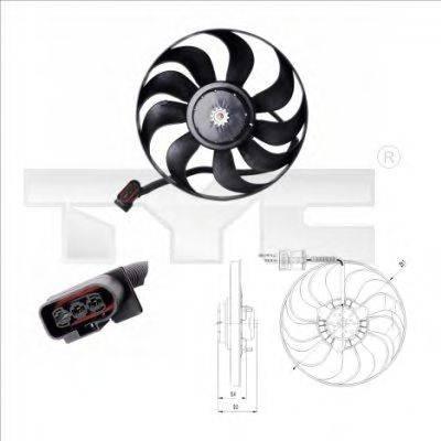 TYC 8370022 Вентилятор системы охлаждения двигателя
