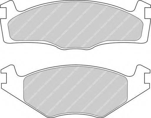 FERODO FDB392 Тормозные колодки