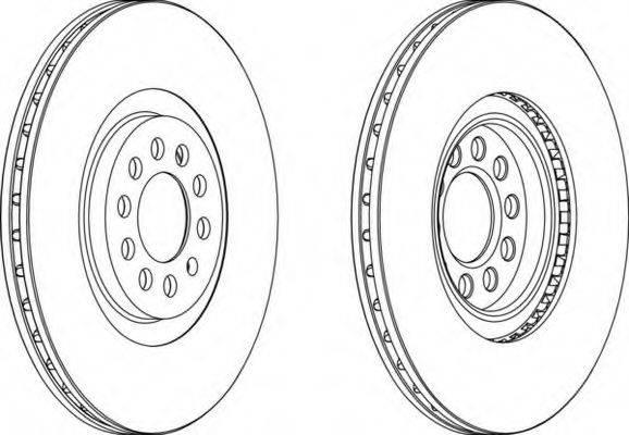 FERODO DDF1118 Тормозной диск