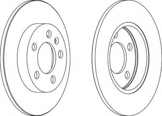 FERODO DDF1155 Тормозной диск