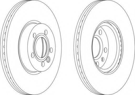 FERODO DDF1160 Тормозной диск