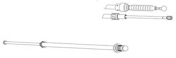 FERODO FHB432943 Трос, стояночная тормозная система