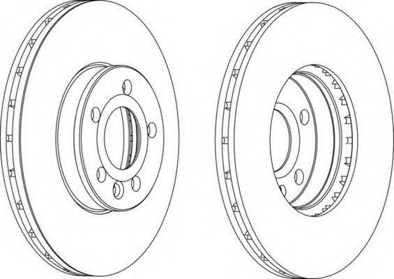 FERODO DDF1559C Тормозной диск