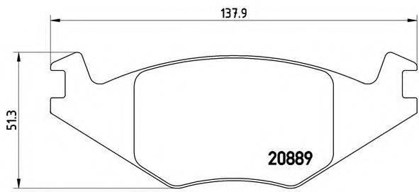 BREMBO P85019 Тормозные колодки
