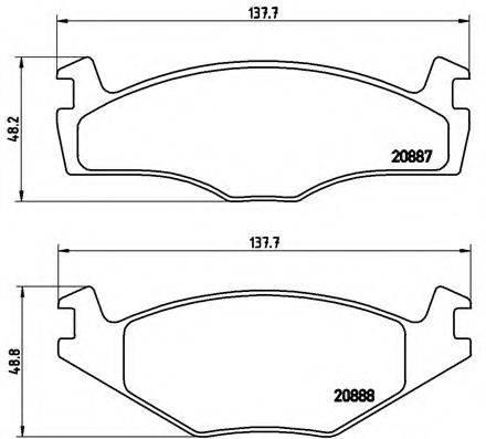 BREMBO P85024 Тормозные колодки