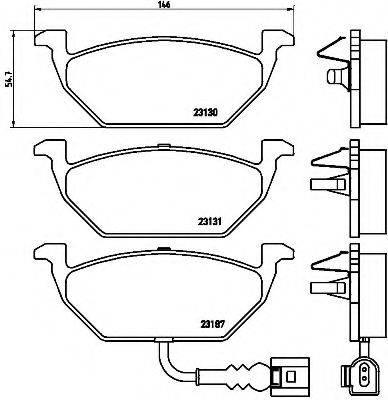 BREMBO P85072 Тормозные колодки