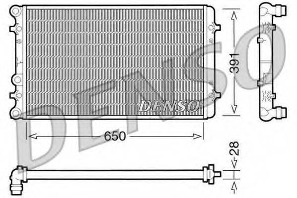 DENSO DRM02007 Радиатор охлаждения двигателя