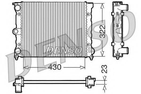 DENSO DRM32022 Радиатор охлаждения двигателя
