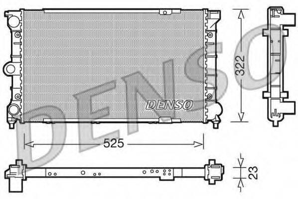 DENSO DRM32031 Радиатор охлаждения двигателя