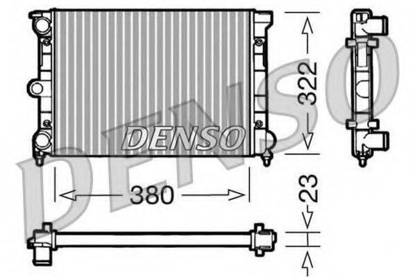 DENSO DRM32032 Радиатор охлаждения двигателя