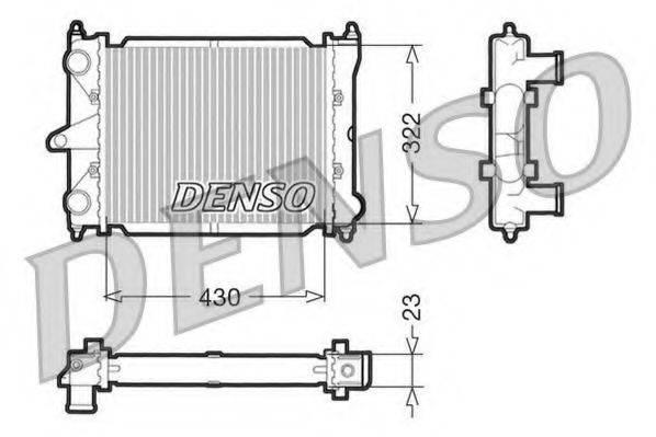 DENSO DRM32033 Радиатор охлаждения двигателя
