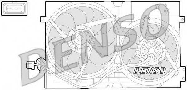 DENSO DER32010 Вентилятор системы охлаждения двигателя