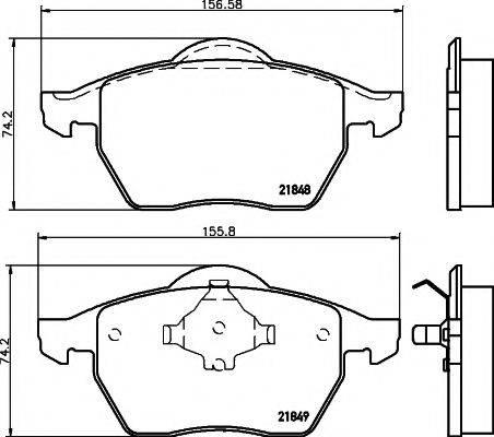 MINTEX MDK0069 Комплект тормозов, дисковый тормозной механизм