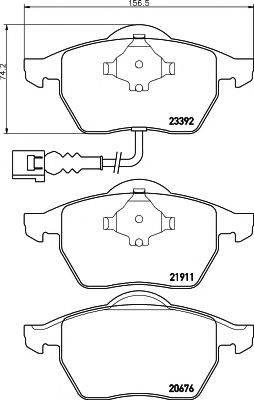 MINTEX MDK0214 Комплект тормозов, дисковый тормозной механизм