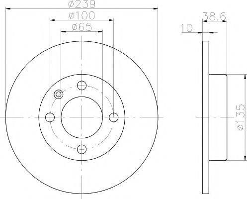 MINTEX MDC247 Тормозной диск