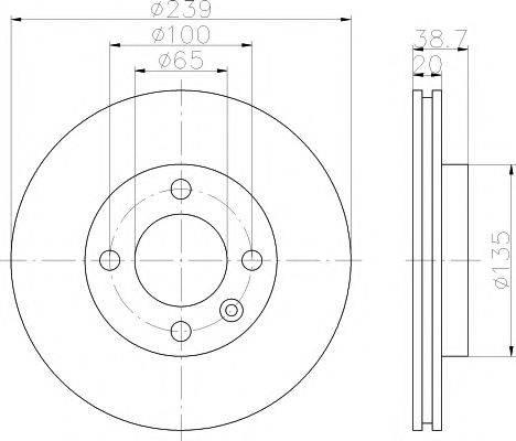 MINTEX MDC365 Тормозной диск