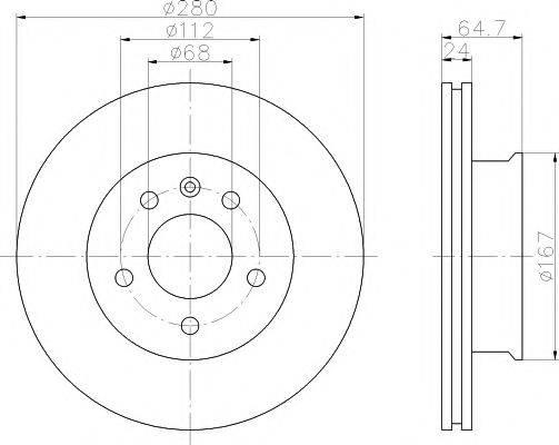 MINTEX MDC913 Тормозной диск