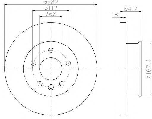 MINTEX MDC917 Тормозной диск
