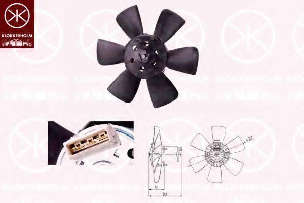 KLOKKERHOLM 95212603 Вентилятор системы охлаждения двигателя