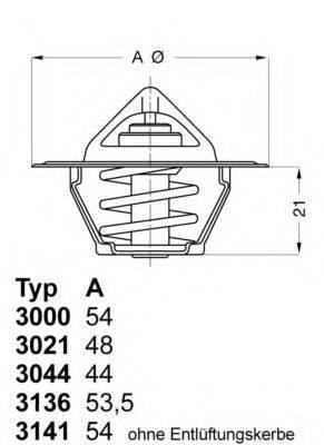 Термостат WAHLER 3136.82D50