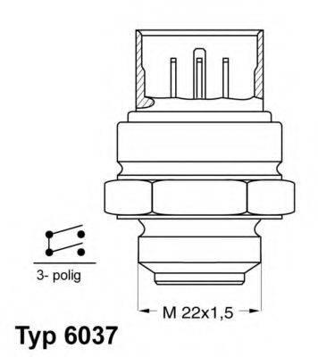 WAHLER 603795D Термовыключатель, вентилятор радиатора